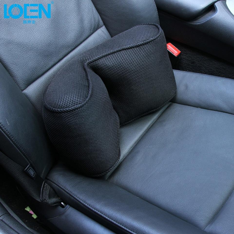 LOEN Car Support Memory Foam Office chair lumbar Back for cruze corolla golf 6 focus 3 e46 W210 lancer mondeo all car