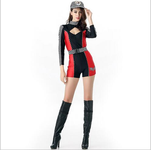Free shipping Miss Racer Racing Driver Costume Super Car Grid Girl Fancy Dress Outfit sexy ...