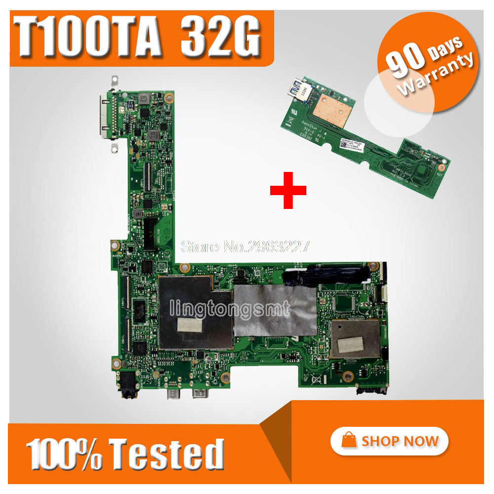 send board+T100TA for ASUS Mainboard 32G T100TA REV2.0 T100TA motherboard 100% fully tested send board t100ta motherboard 64gb for asus t100ta t100taf t100t laptop motherboard t100ta mainboard t100ta motherboard test ok