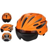 2019 Populaire Helm Rijden Met Veiligheid Beschermende Bril Fitness Outdoor Sport Voor Fietsen Hoofd Oogbescherming Apparatuur