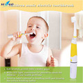 Battery Operated LED Light Children Waterproof Sonic Electric Toothbrush Oral Hygiene Electric MassageTeeth Care for kids+2 head