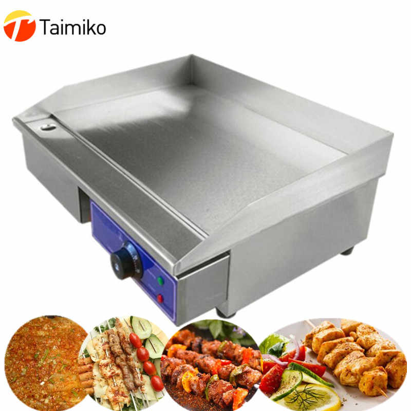 New commercial or home electric grill with temperature control stainless steel electric griddle flat plate sale at a cheap price