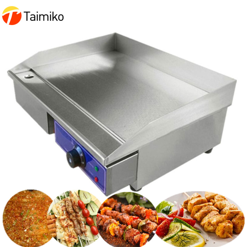 все цены на New commercial or home electric grill with temperature control stainless steel electric griddle flat plate sale at a cheap price онлайн