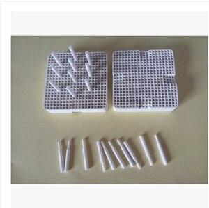 2pcs plates with 20 pcs porcelain nails Dental Lab Materials Pan Rack Circle Plate holding PFMs for Sintering