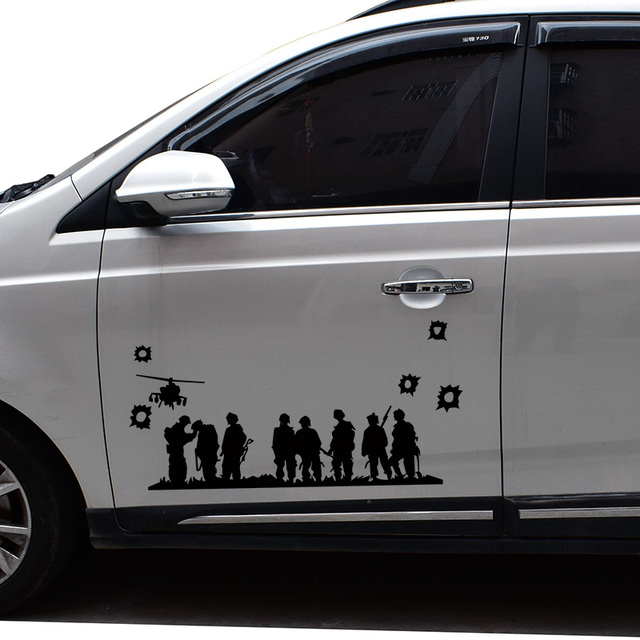 Brothers soldiers group design car side door decor vinyl stickers and decalsdie cut glue