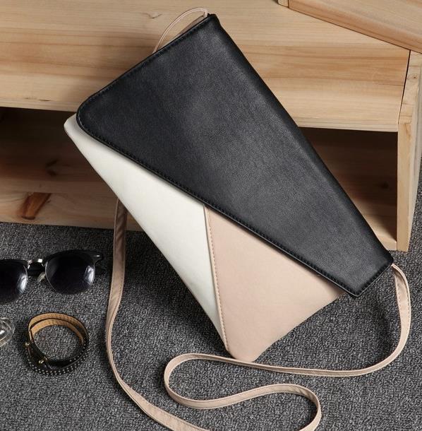 Fashion envelope clutch bag simple style women bag Europe style new bag Patchwork women's bag handbag day clutch