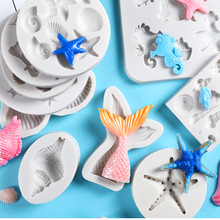 3D Christening Mermaid Tail Silicone Mold Fondant Cake Decorating Tools Cupcake Baking Handmade Soap Mould