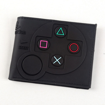 Game Handle Playstation wallet  3D Touch and super cool Men Wallets PVC Purse  Bi-Fold 13