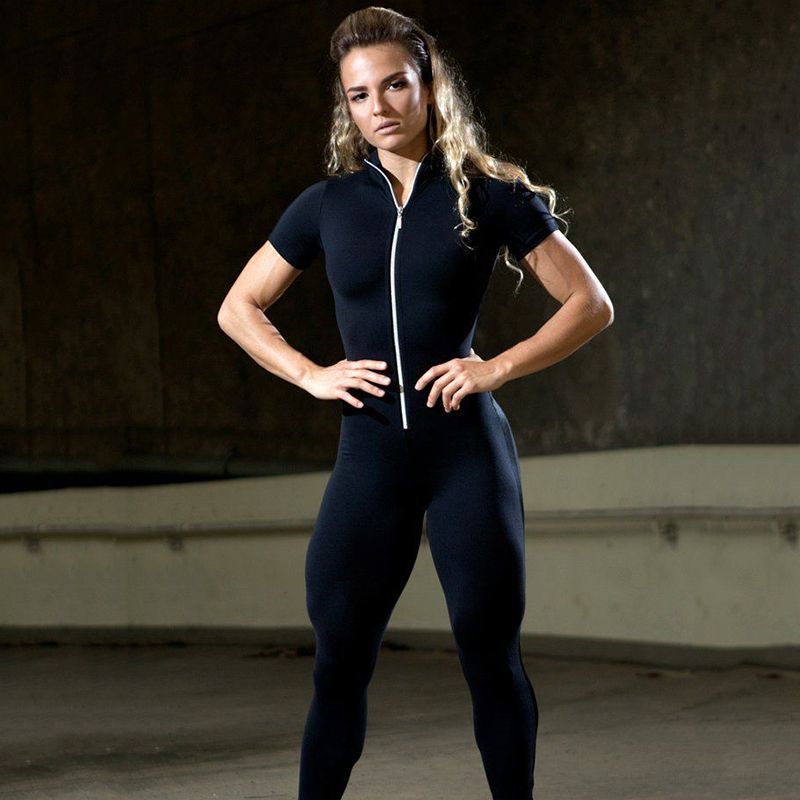 Short Sleeve Zipper Patchwork Tracksuit Women Sportwear Outfit Workout Clothes Women Seamless Set Sport Suit Elastic