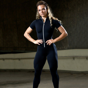 Image 3 - Áo Thun Nữ Tay Ngắn Dây Kéo Miếng Dán Cường Lực Phù Hợp Với Áo Nữ Sportwear Bộ Trang Phục Tập Luyện Quần Áo Phụ Nữ Không Đường May Set Bộ Đồ Thể Thao Thun Tập Yoga