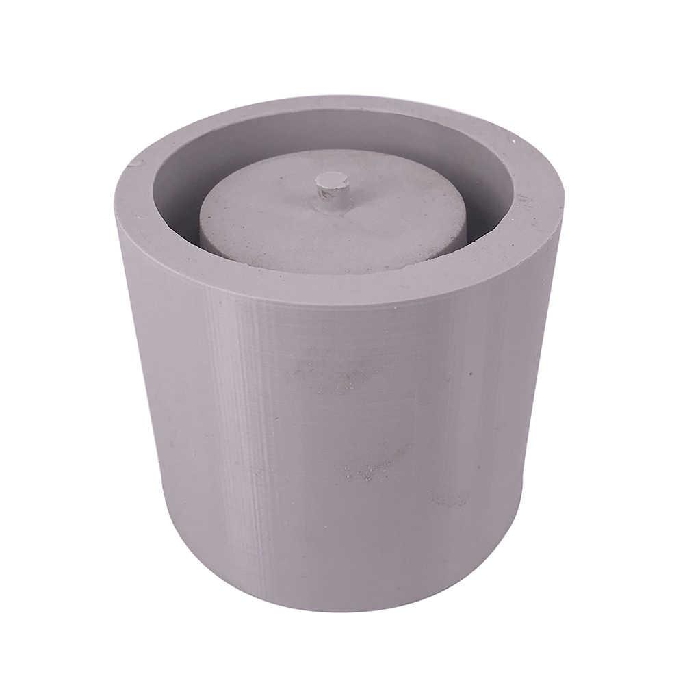 Round Cement Flower Pot Silicone Mold Home Decoration Crafts Succulent Plants Concrete Planter Vase Molds