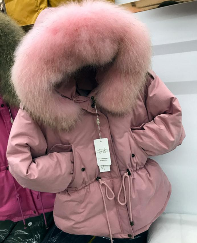 Winter fashion brand good quality big real fur collar duck   down     coat   female zipper stitching hooded warm   down   parkas wq153