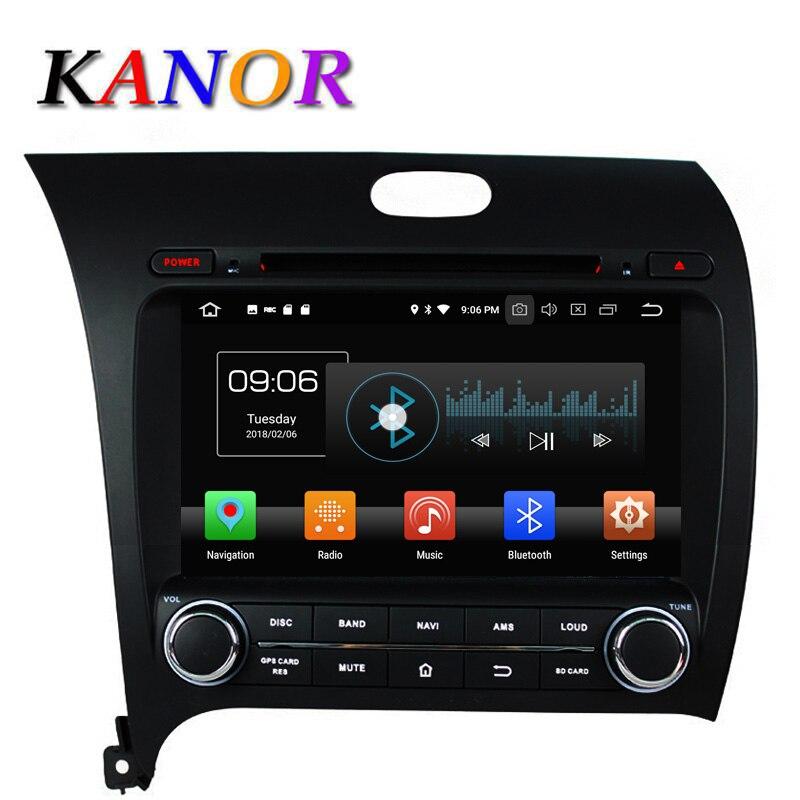 KANOR Android 8.0 Huit Core 4 + 32g IPS 2din Voiture Radio Vidéo lecteur Pour KIA Cérat Forte K3 2013 Avec Bluetooth WIFI Audio CFC
