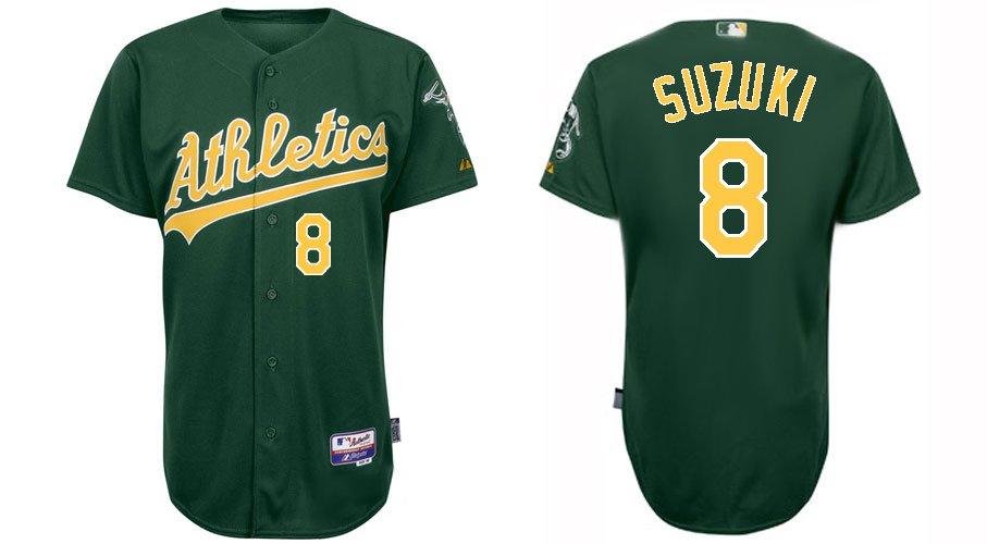 official photos 4b75d 05d4e 2012 hotsaleTop quality # 8 Oakland Athletics baseball ...