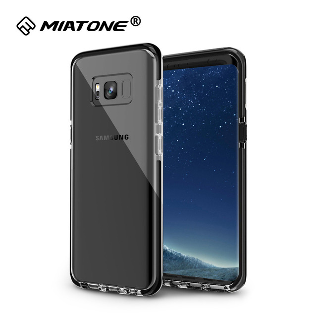 best service b5f0b 86dfa US $3.4 29% OFF|Case For Samsung Galaxy S8 / S8 Plus, Full Protective Clear  Slim TPU+TPE Cover ShockProof Scratch Resistant Phone Cases-in Fitted ...