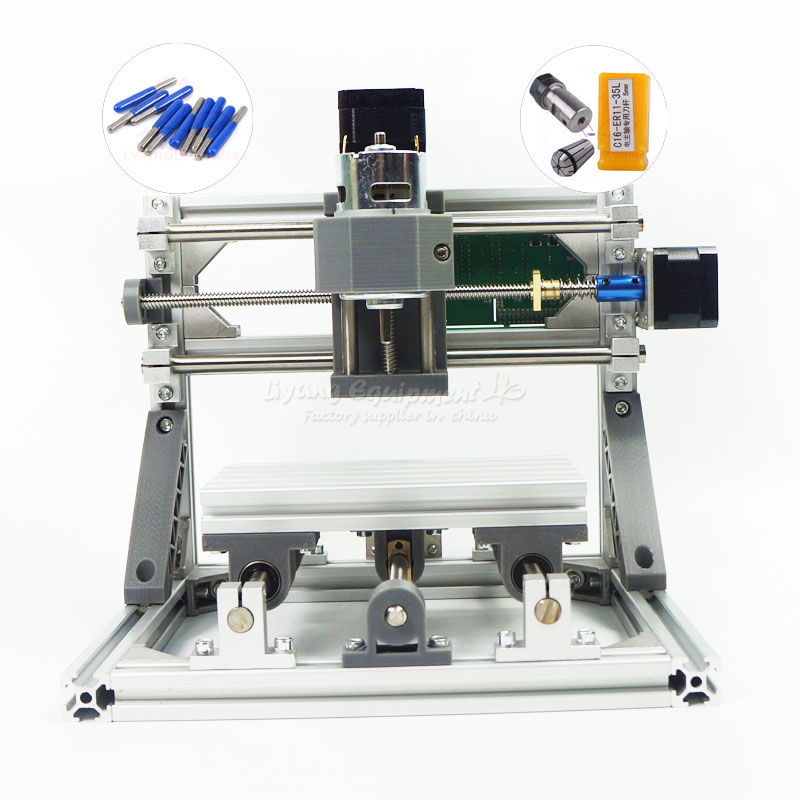 Pcb Milling Machine Wood Carving machine diy mini cnc router with GRBL control L10001 high steady cost effective wood cutting mini cnc machine milling