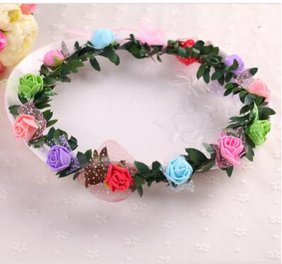 100pcs/lot fedex fast free shipping  Women Wedding Bridal Hair Bands Flowers Hair Accessories lady beach flower headwear