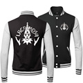 2015 Fashion Winter New Style Tracksuit Cotton Slim Fit Casual Printed Lacrimosa Rock Band Black Mens Coats And Baseball Jackets