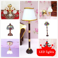 1 12 Dollhouse Furniture Toy Miniature Led Light Lamp Dolls Simulation Mini Lighting Model Children Pretend
