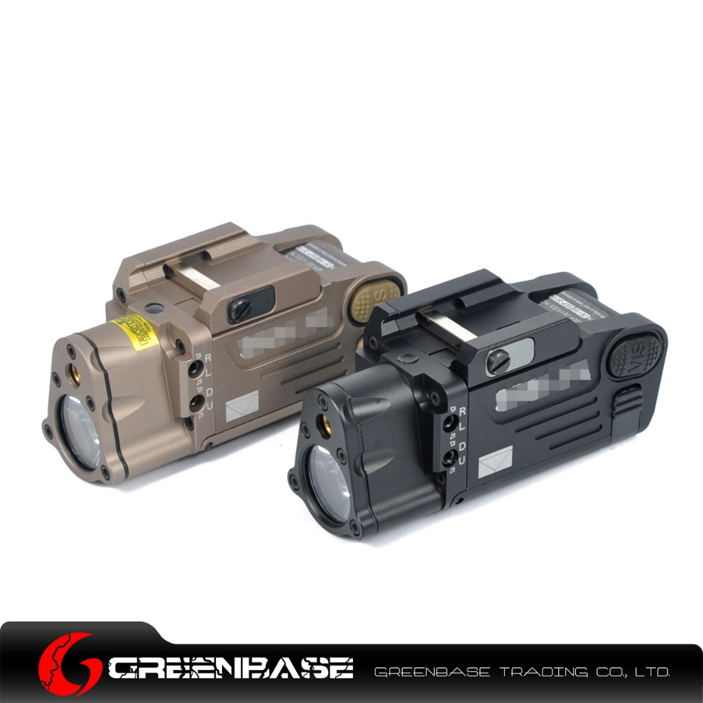 ФОТО Greenbase CNC Aluminum SBAL-PL Hunting Flashlight Red Laser and LED WeaponLight Constant Momentary Strobe Flashlight