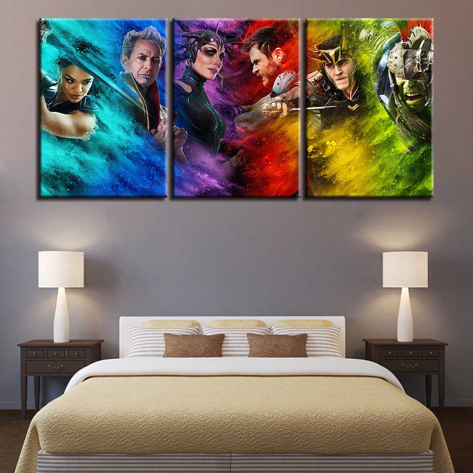 Canvas Paintings Wall Art Framework Movie Characters Pictures Home Decor HD Prints Color Abstract Thor Posters For Living Room