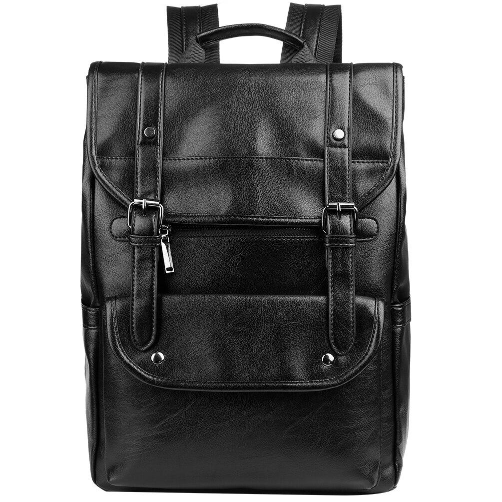 58d34b3075f3 Vbiger Men PU Leather Backpack School Shoulders Bag Stylish Travel ...