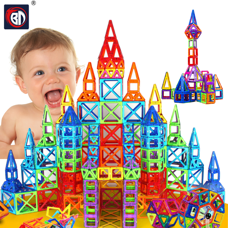 New 64pcs Mini Magnetic Designer Construction Set Model & Building Toy Plastic Magnetic Blocks Educational Toys For Kids Gift telecool magnetic building blocks toys mini 80 100 pcs diy set inspire kids educational construction designer toy