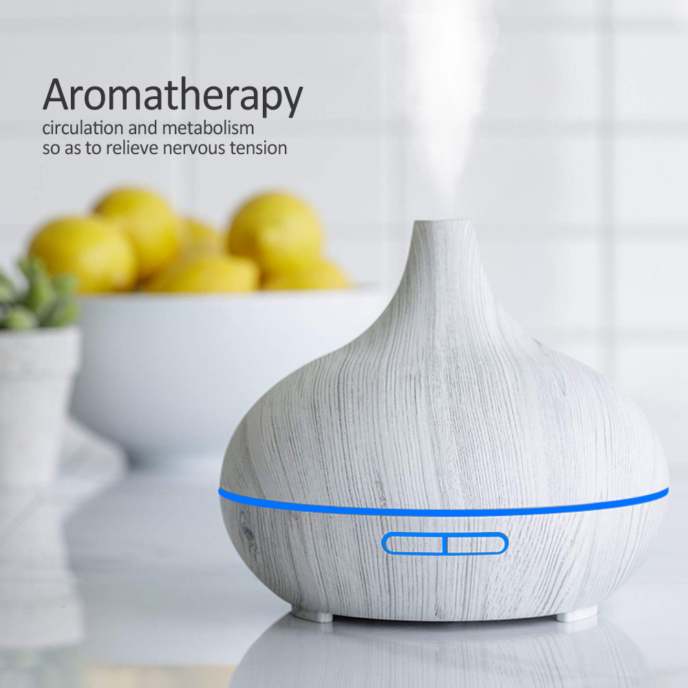 KBAYBO Aroma Diffuser Air Purifier Humidifier wood grain