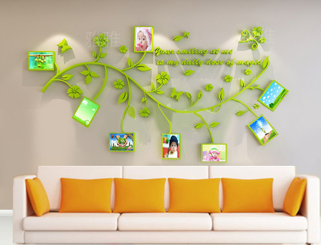 3d Stereo Acrylglas Bilderrahmen Wandsticker Wand Aufkleber