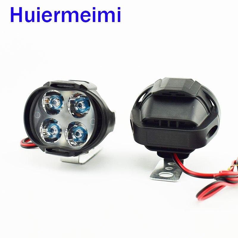 2 PCS Motorcycle Led Headlight HeadLamps 1000Lm Scooter Fog Spotlight 6500K White Motorbike Working Spot Head Light Lamp 12V 24V