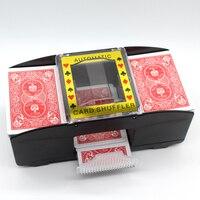 Automatique mélangeur De Cartes De Poker Batterie Exploité Casino Jeu Brassage Machine Avancée Casino Robot (2 Pont)