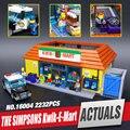 Envío Libre LEPIN 16004 Los Simpsons Kwik-e-mart Bloques de Construcción Establece Ladrillos Educativos Regalo de Navidad Kits Clon 71016