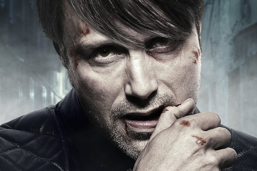 mads mikkelsen 2013 hannibal lecter movie poster 12x18 inch Print Silk Fabric art Wall Decor Custom print image