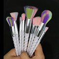 10 UNIDS Colorido Unicornio de Cosméticos Componen Cepillos de Pelo Sintético Mango Espiral de Fundación Eyeshadow Brush Set