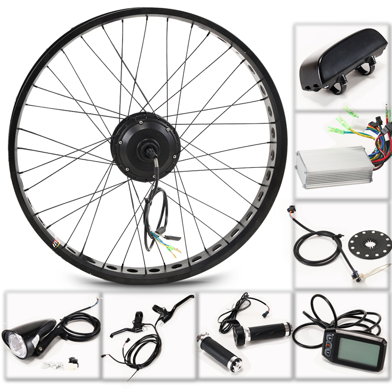 CASDONA Fat BIKE 36V 350W electric bicycle kit 26 inch rear wheel motor brushless gear hub