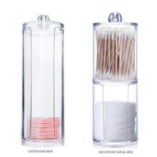 Новинка ватные диски ватные палочки прозрачный акриловый держатель для хранения коробка прозрачный косметический макияж Органайзер чехол Высокое качество