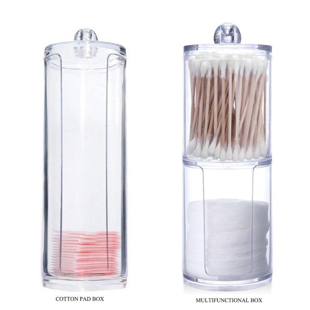 2 סוגים אקריליק איפור כותנה כרית כותנה ספוגית אחסון תיבת איפור ארגונית קוסמטי בעל כלי אביזרים סיטונאי