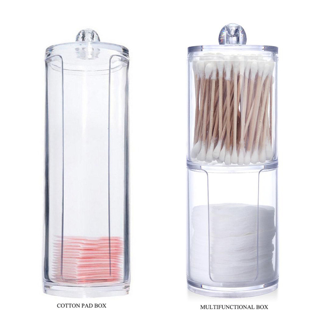 f1334558efed US $1.8 |2018 New Cotton Pads Cotton Swab Clear Acrylic Storage Holder Box  Transparent Cosmetic Makeup Organizer Case High Quality Hot-in Cotton Swabs  ...