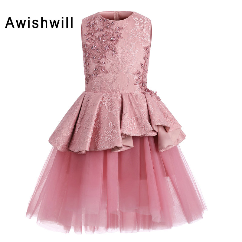 New arrival pink flower girl dresses 2018 sleeveless beaded lace new arrival pink flower girl dresses 2018 sleeveless beaded lace satin tulle a lline short communion dress kids graduation gown mightylinksfo