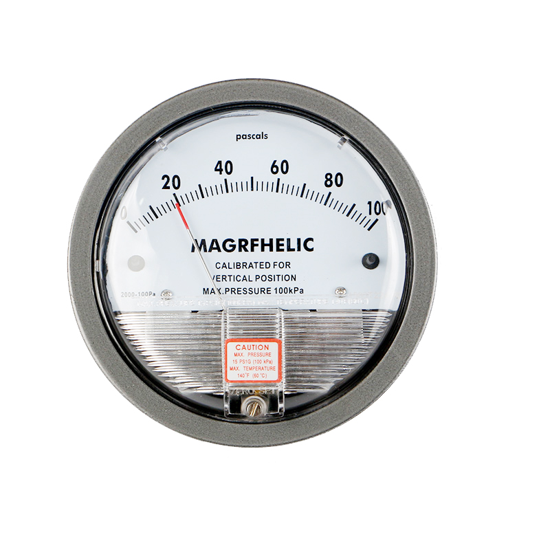 0-100PA Micro Differential Pressure Gauge High Precision 1/8 NPT Round Type Pointer Instrument Micromanometer TE2000 te2000 500pa 500pa micro differential pressure gauge
