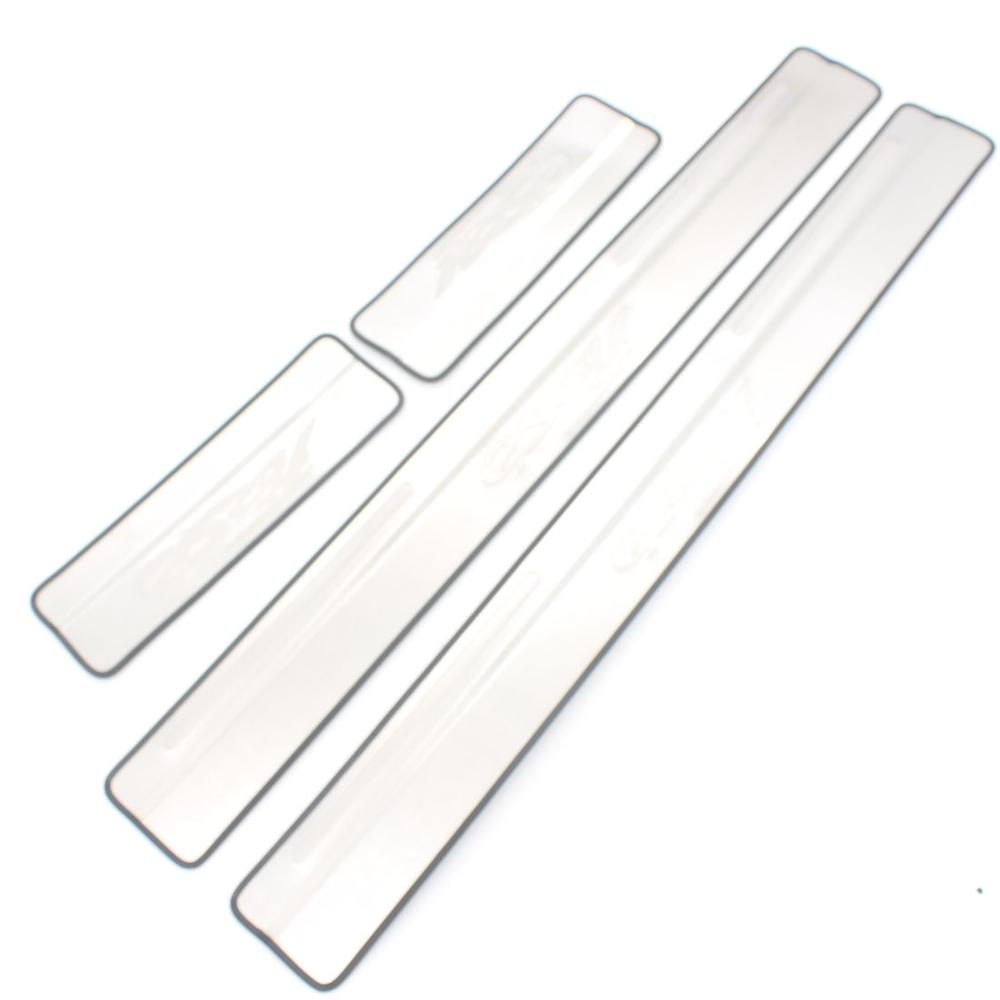 Online shop dongzhen stainless steel door sill scuff plate trim for ford fiesta 2009 2010 2011 2012 2013 2014 2015 4pcs per set aliexpress mobile