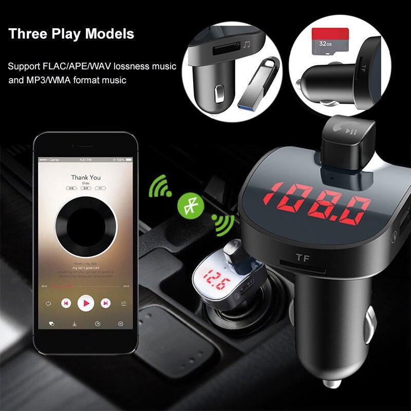 Vehemo беспроводной радио адаптер fm-передатчик автомобильное зарядное устройство fm-адаптер музыкальный автомобильный fm-передатчик для bluetooth-гарнитуры автомобильный комплект