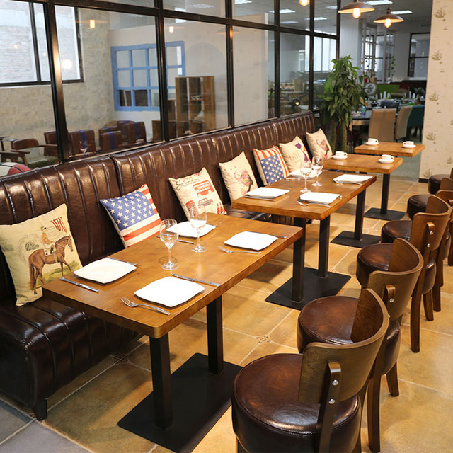 customzied modern design sofa dining table and chair for resturant ...