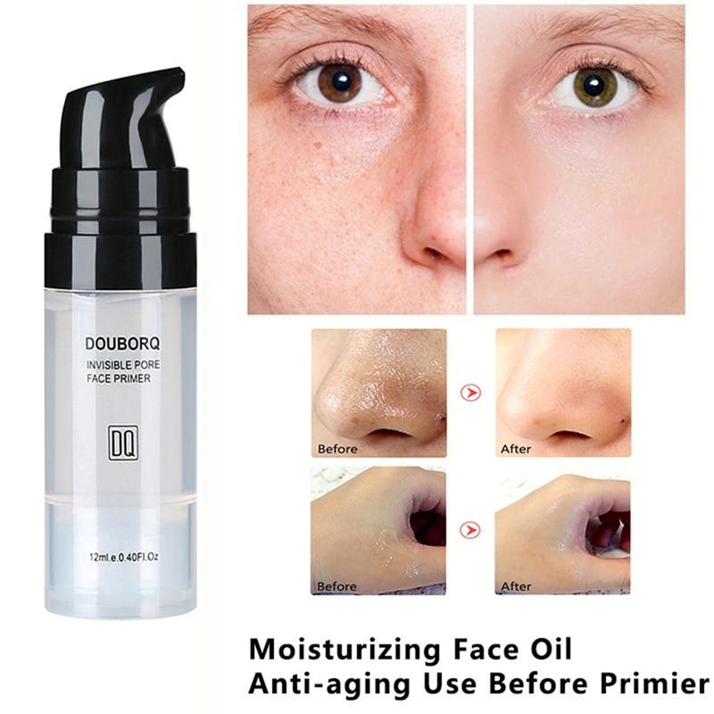12ml baza do twarzy makijaż baza pod kontrolą oleju wybielanie niewidoczny olej do twarzy baza do makijażu twarzy podkład 4