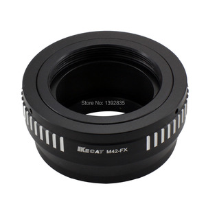 Image 2 - Kecay High Precision M42 FX lens adapter for M42 screw mount lens To for Fujifilm X Pro1 FX XPro1  Black+Sliver