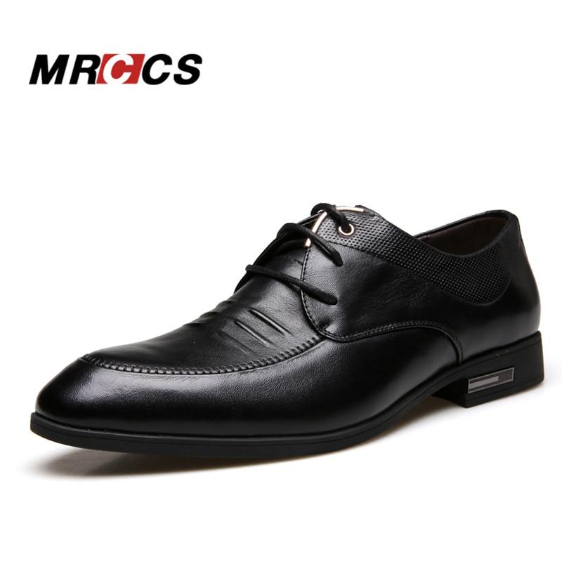 MRCCS Clearanc Aus Echtem Leder Spitze Schuhe herren