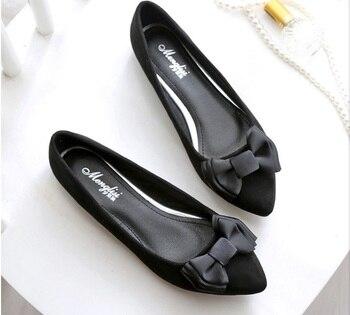 Größe 12 Wohnungen | Frauen Marke Driving Schuhe Tasche Schuhe Auf Flache Damen Loafers Mit Bogen Schwarz Und Lila Plus Größe 12 Neue Ankunft Slip Auf Für Party