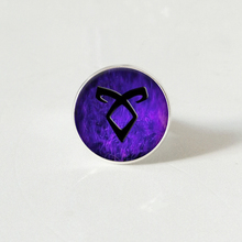 New City of bones glass ring Angelic rune sivler angelic mortal instruments jewelry
