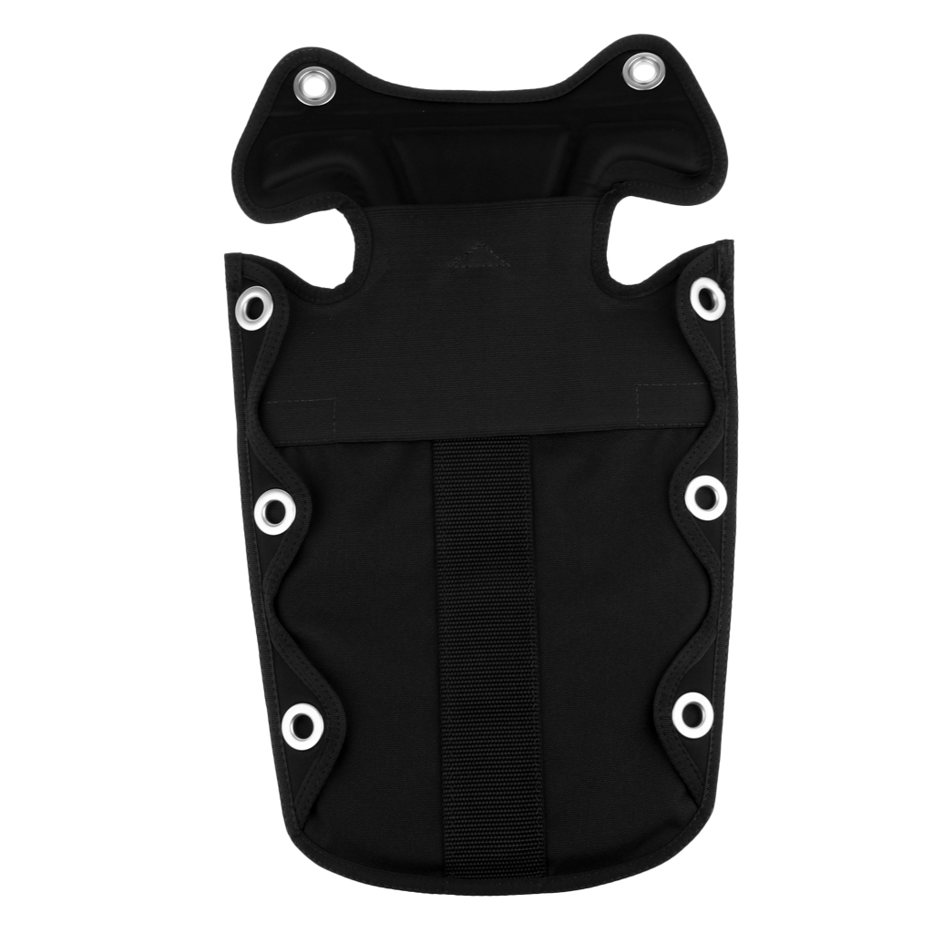 Professional Nylon Backplate Pad BCD Scuba Diving Buoyancy Back Pad Storage Pocket For SMB And Lift Bags