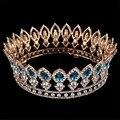 Novo Grande Europeu Banhado A Ouro Coroa de Casamento Da Noiva Acessórios Do Cabelo Do Casamento Da Coroa Da Rainha de Cristal Austríaco Grande HG-G88